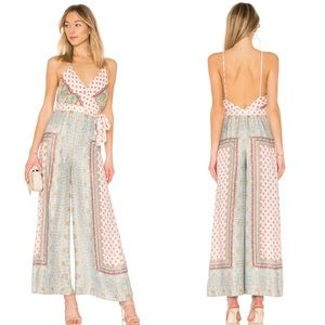 Free People Cabbage Rose Wide Leg Jumpsuit